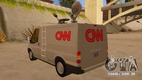 Ford Transit CNN para GTA San Andreas traseira esquerda vista