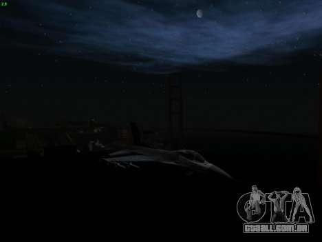 F-16C Warwolf para GTA San Andreas vista direita