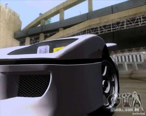 Ferrari F40 para GTA San Andreas vista interior