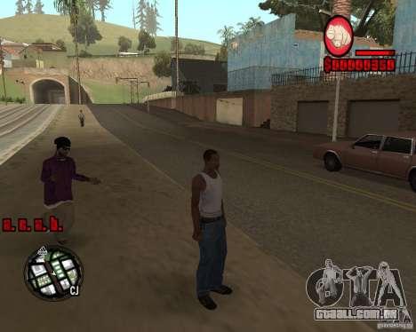 HUD by Russkiy para GTA San Andreas terceira tela