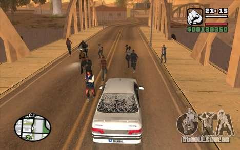 Resident Evil Dead Aim para GTA San Andreas segunda tela
