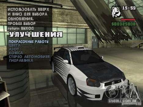 Subaru Impreza Wrx Sti 2002 para GTA San Andreas