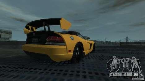 Dodge Viper SRT-10 ACR 2009 para GTA 4 traseira esquerda vista