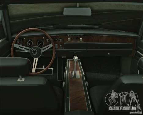 Dodge Charger RT 1969 para GTA San Andreas vista inferior