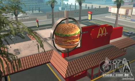 Restaurantes McDonals para GTA San Andreas