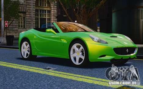 Ferrari California para GTA 4 vista direita