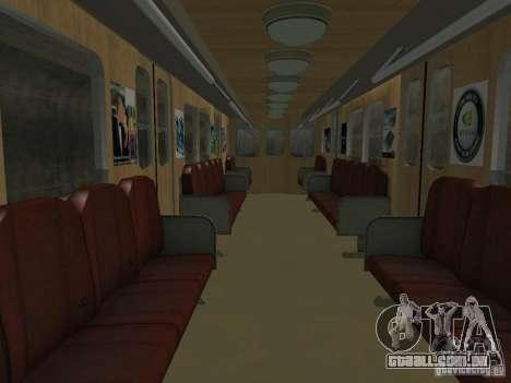 Metro e para vista lateral GTA San Andreas