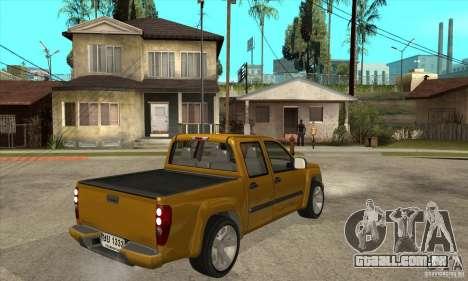GMC Canyon 2007 para GTA San Andreas vista direita
