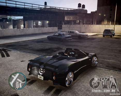Pagani Zonda C12S Roadster para GTA 4 vista de volta