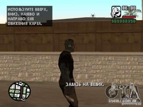 Zombe from Gothic para GTA San Andreas sexta tela