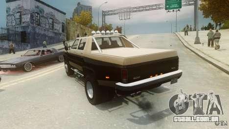 Declasse Yosemite Dually para GTA 4 traseira esquerda vista