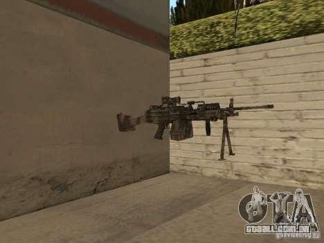 Metralhadora MK-48 para GTA San Andreas