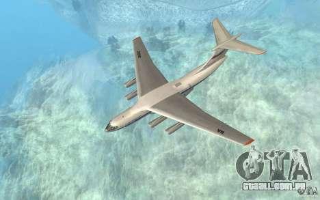 O IL-76 para GTA San Andreas esquerda vista