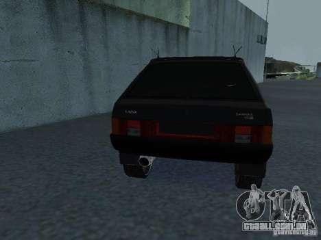 VAZ 2109 ajustáveis para GTA San Andreas vista interior