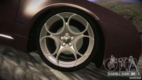 Alfa Romeo Brera Ti para GTA San Andreas vista inferior