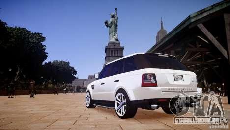Range Rover Sport Supercharged v1.0 2010 para GTA 4 traseira esquerda vista