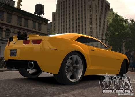 Chevrolet Camaro concept 2007 para GTA 4 traseira esquerda vista