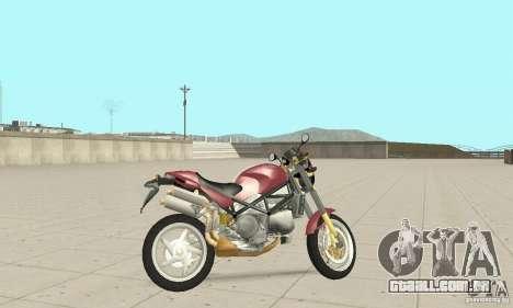 Ducati Monster S4R para GTA San Andreas traseira esquerda vista