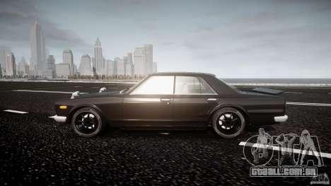Nissan Skyline GC10 2000 GT v1.1 para GTA 4 esquerda vista