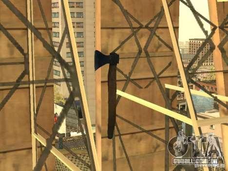 Machado para GTA San Andreas por diante tela