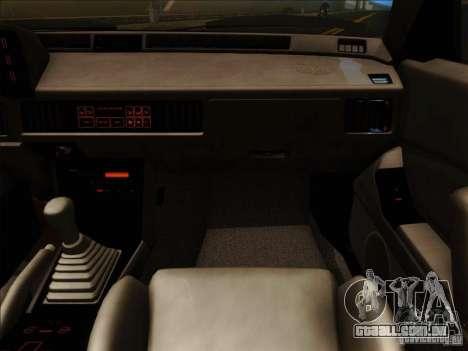 Mitsubishi Starion ESI-R 1986 para vista lateral GTA San Andreas