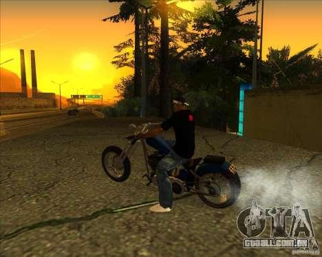 Hexer bike para GTA San Andreas esquerda vista