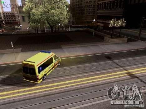 Mercedes-Benz Sprinter Ambulance para GTA San Andreas vista inferior