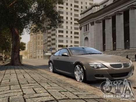 BMW M6 2010 para GTA 4 traseira esquerda vista