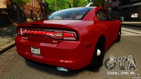 Dodge Charger RT Max FBI 2011 [ELS] para GTA 4 traseira esquerda vista