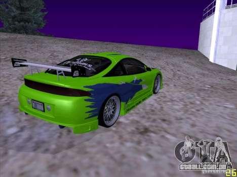 Mitsubishi Eclipse 1998 - FnF para GTA San Andreas traseira esquerda vista