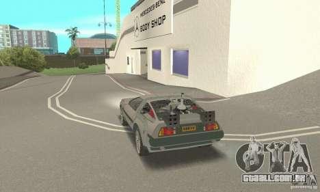DeLorean DMC-12 (BTTF3) para GTA San Andreas esquerda vista