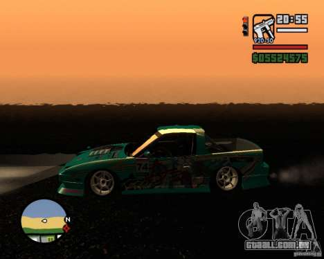 Nissan RPS13 Pick-Up Moscow Drift para GTA San Andreas esquerda vista