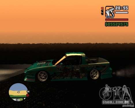 Nissan RPS13 Pick-Up Moscow Drift para GTA San Andreas esquerda vista