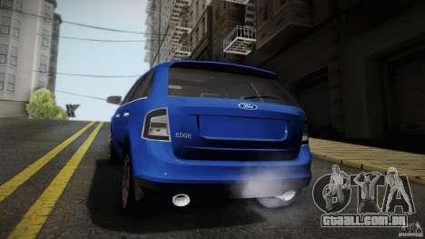 Ford Edge 2010 para GTA San Andreas traseira esquerda vista