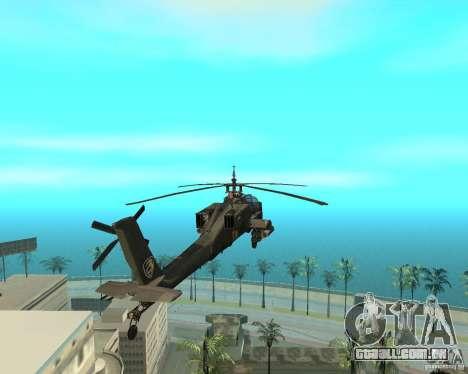 Ka-50 Black Shark para GTA San Andreas vista direita