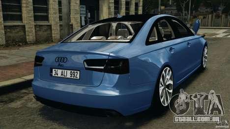 Audi A6 para GTA 4 traseira esquerda vista
