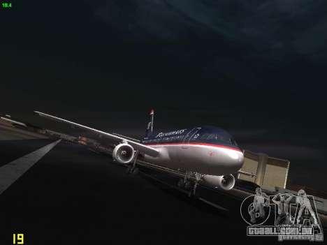 Airbus A319 USAirways para GTA San Andreas vista traseira