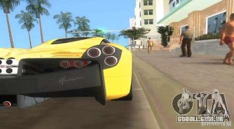 Pagani Huayra para GTA Vice City deixou vista