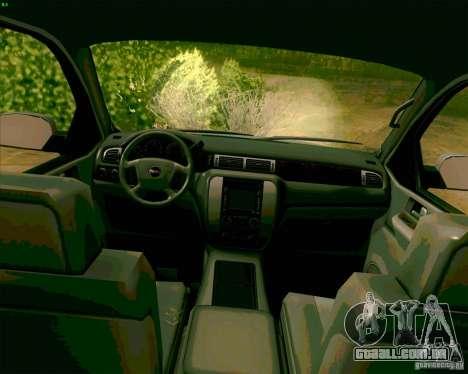 GMC Yukon Denali 2007 para GTA San Andreas vista traseira