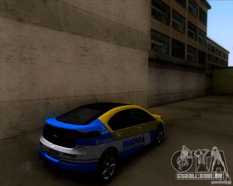 Chevrolet Volt 2012 Stock para GTA San Andreas interior