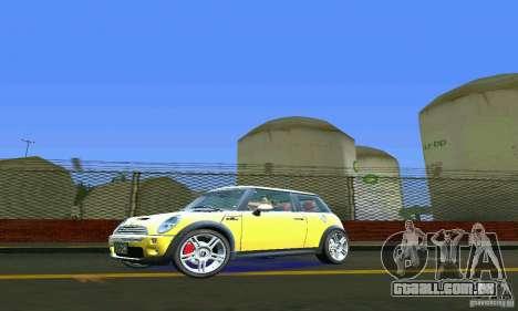 Mini Cooper S para GTA Vice City deixou vista