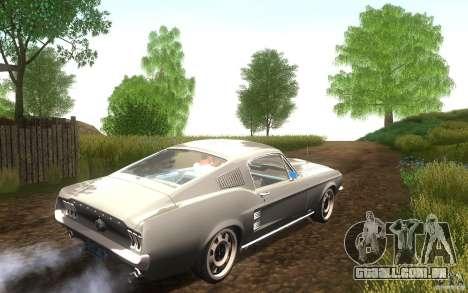 Ford Mustang 1967 American tuning para GTA San Andreas vista traseira