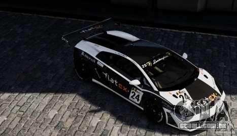 Lamborghini Gallardo LP560-4 GT3 2010 para GTA 4 vista direita