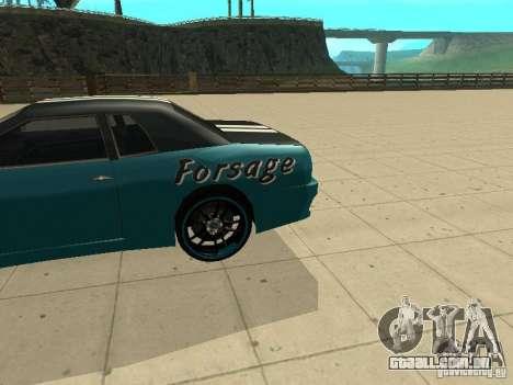 Elegy Forsage para GTA San Andreas traseira esquerda vista