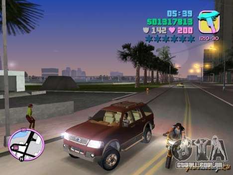Ford Explorer para GTA Vice City deixou vista