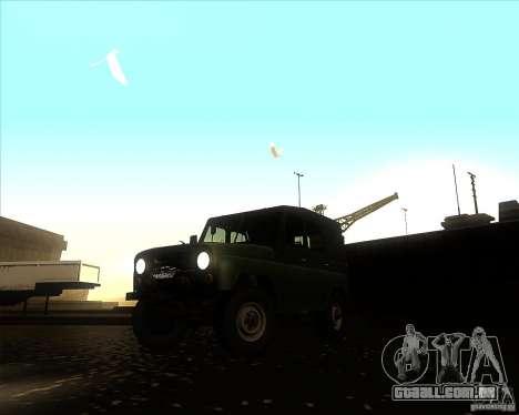UAZ 31512 militar para GTA San Andreas
