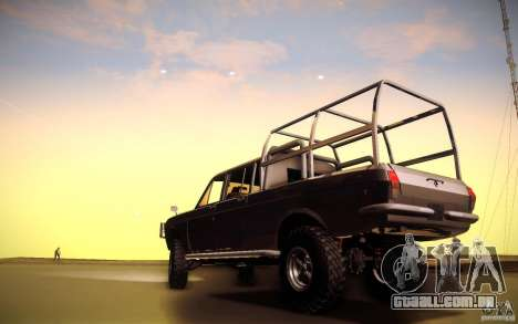 GAZ 2402 4 x 4 PickUp para GTA San Andreas vista traseira