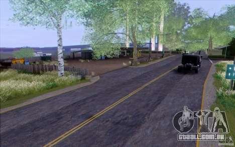 Zona rural HQ para GTA San Andreas por diante tela