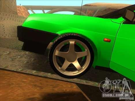 VAZ 2109 inverno para GTA San Andreas vista interior