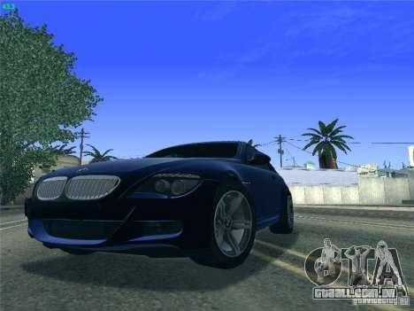 BMW M6 2010 Coupe para GTA San Andreas esquerda vista